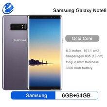 Original Samsung Galaxy Note 8 N950F N950U 6GB RAM 64GB ROM 6,3 pulgadas Octa Core Dual Cámara 12MP 3300mAh Teléfono Móvil Inteligente