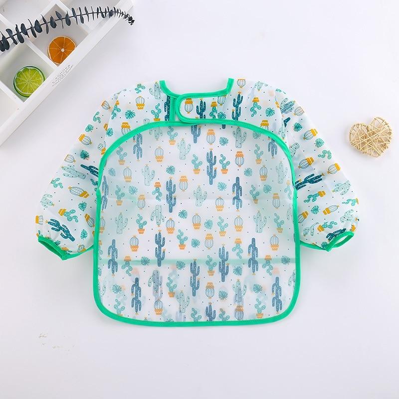 2020 Hot EVA Waterproof Unisex Bibs Boys Girls Infants Cartoon Bibs Cloths For Children Self Feeding Care Accessories