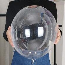 5 pçs 10 18 24 36 polegada transparente claro pvc bobo balões festa de aniversário decoração de casamento adulto crianças diy balão hélio inflável