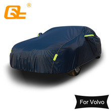 210T evrensel koyu mavi tam araba kılıfı açık kar buz toz güneş UV gölge kapak volvo v70 v60 s40 s60 xc90 xc60 s80