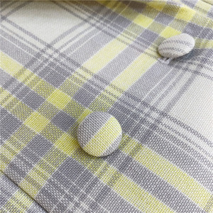 Image 5 - Women Coat 2019 Autumn and Winter Cute Yellow Large Plaid Wool Suit