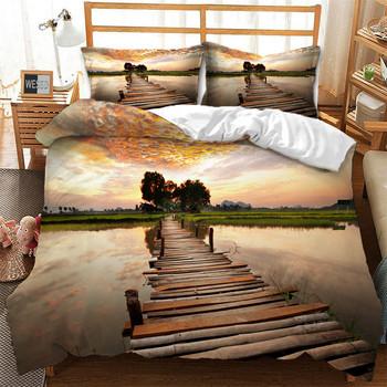 Piękna sceneria kołdra i poszewka na poduszkę wzór mostu łóżko-zestaw dla 1 lub 2 osób pościel komplet pościeli łóżko ozdoby tanie i dobre opinie WESSD CN (pochodzenie) Drukuj 1 0 m (3 3 stóp) 1 2 m (4 stóp) 1 35 m (4 5 stóp) 1 5 m (5 stóp) 1 8 m (6 stóp) 2 0 m (6 6 stóp)