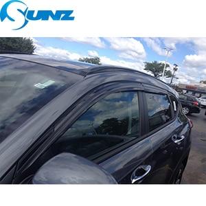 Image 4 - Side Window Deflectors Black  Color Car Wind Deflector Sun Guard For HYUNDAI SANTA FE 2012 2013 2014 2015 2016 2017 SUNZ
