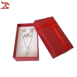 Image 5 - Boîte de rangement en papier pendentif 24 pièces, boîte cadeau couleurs variées boîte organiseur pour bijoux boucles doreilles 8*5*2.5CM
