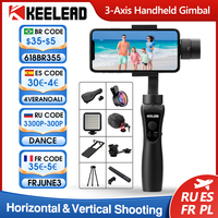KEELEAD stabilizzatore cardanico palmare a 3 assi per Smartphone Action Camera Gopro registrazione Video Vlog Live Selfie Stick Focus Pull Zoom