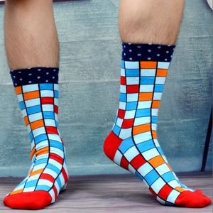 Image 2 - SANZETTI Calcetines de algodón peinado para hombre, calcetín, ropa estilo informal, 12 pares por lote