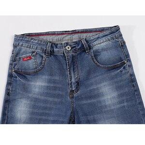 Image 3 - Pantalones vaqueros para Hombre 2020 de verano ultradelgados informales rectos ajustados elásticos azul claro suave Caballero pantalones vaqueros Hombre