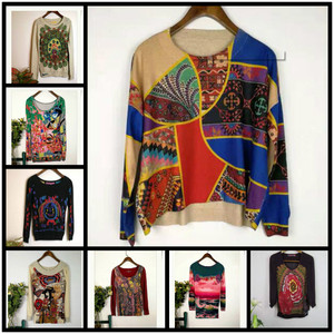 DESIGU 2019 A variety of Spanish Deg home printed knitted cardigans sweater size M