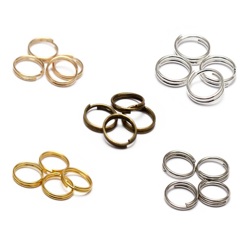 200pcs/lot 5 6 8 10 12 mm Open Jump Rings Double Loops Silver Gold Color Split Rings Connectors For DiY Jewelry Making Supplies