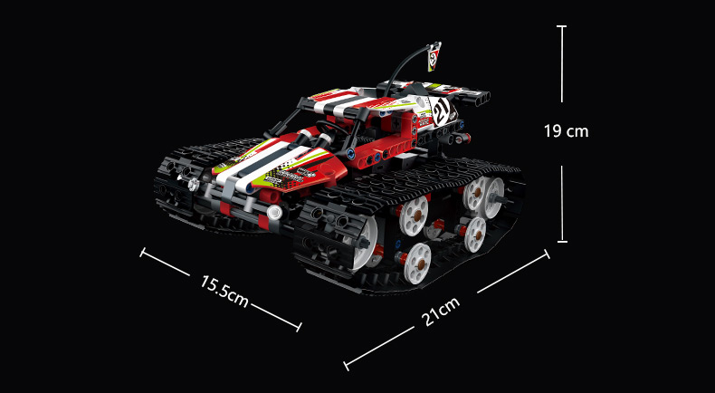 MOULD KING Crawler RC Tracked Racer Compatible 42065 MOC 13023 13024 Building Block 18