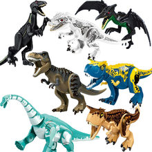 Jurassic World 2 Building Blocks Dinosaurs Figures Bricks Tyrannosaurus Rex Indominus Rex I-Rex Assemble Kids Toys(China)