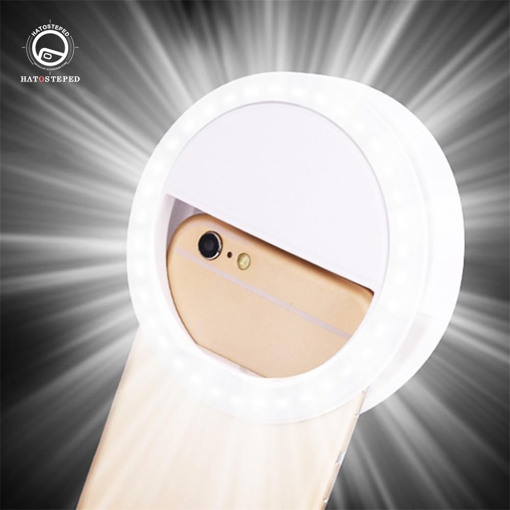 Universal Selfie LED Ring Flash Light Portable Mobile Phone 36 Leds Selfie Lamp Luminous Ring Clip For IPhone 11 Pro 7 8 Plus SE