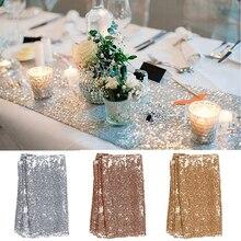 30x180 см, золотые, розовые, золотые, серебряные, с блестками, Настольная дорожка для вечерние скатерти, свадебные украшения, Настольная дорожка s