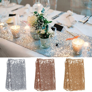 30x180cm Colorful Sequin table runner for Party table cloth Weddings Decoration Table Runners(China)