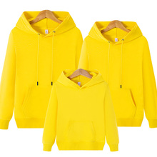 Matching Family Outfits Plus Size Father Mother Daughter Son Hoodies Long Sleeve Blouse Solid Autumn Both Men and Women Can Wear
