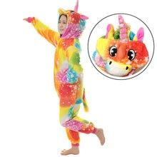 Нарядная Пижама с единорогом для маленьких мальчиков и девочек; нарядная одежда с рисунком радуги для малышей; детская зимняя одежда для костюмированной вечеринки; От 3 до 8 лет
