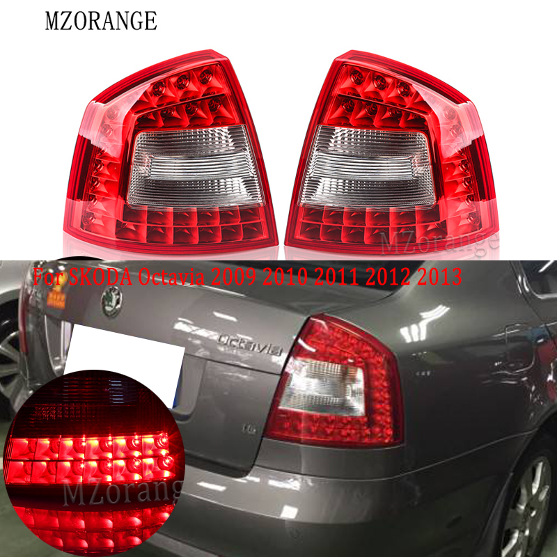 MZORANGE <font><b>LED</b></font> Rear Light For <font><b>SKODA</b></font> <font><b>Octavia</b></font> A6 For RS 2009 <font><b>2010</b></font> 2011 2012 2013 Car-styling <font><b>LED</b></font> Car Rear Brake Lights Tail Light image