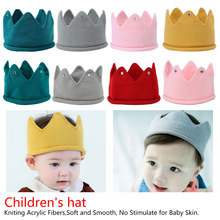 Crown Baby Hat Photography Props Autumn Winter Knit Newborn Baby Girl Boy Hat Turban Infant Toddler Beanie Cap Casquette цена 2017