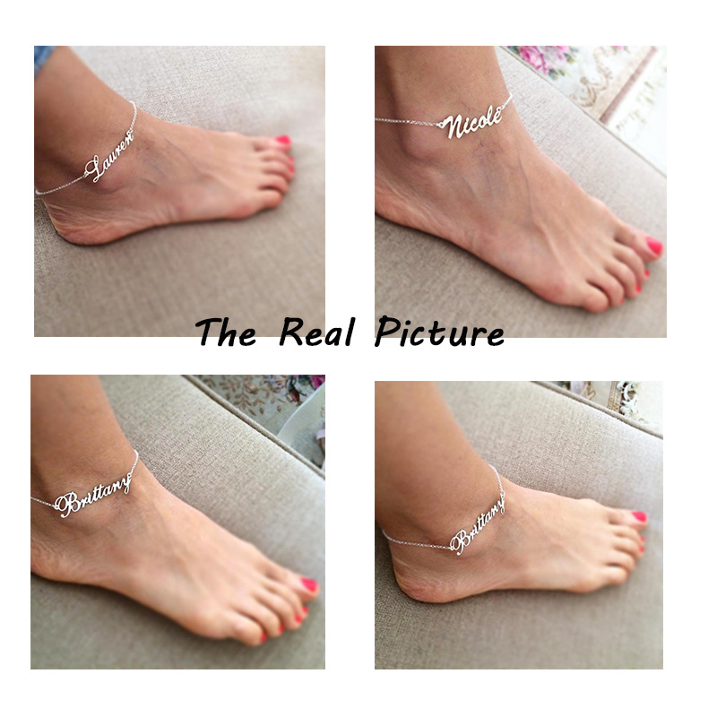 Personalized Name Anklets,Custom Name Anklets, Custom Jewelry, Custom Anklets, Anklets Women Men, Customized Gift for Her