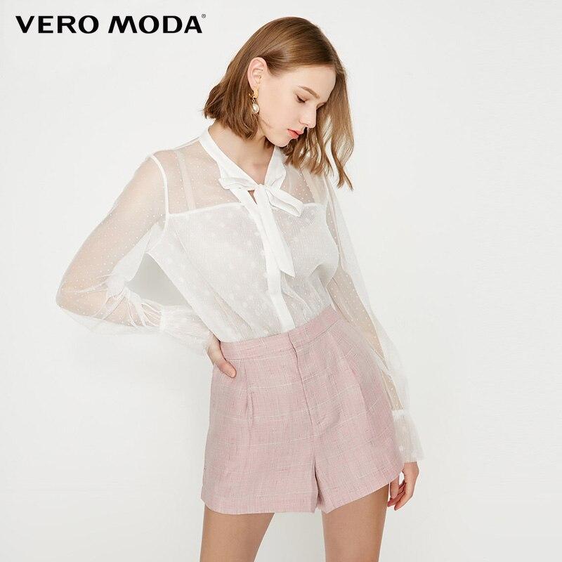 Vero Moda Women's Linen Plaid Shorts|319215509