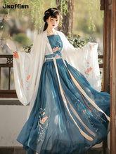 Feminino chinês tradicional hanfu traje senhora vestidos han dynasty vestido bordado tang dinastia princesa folk dança roupas