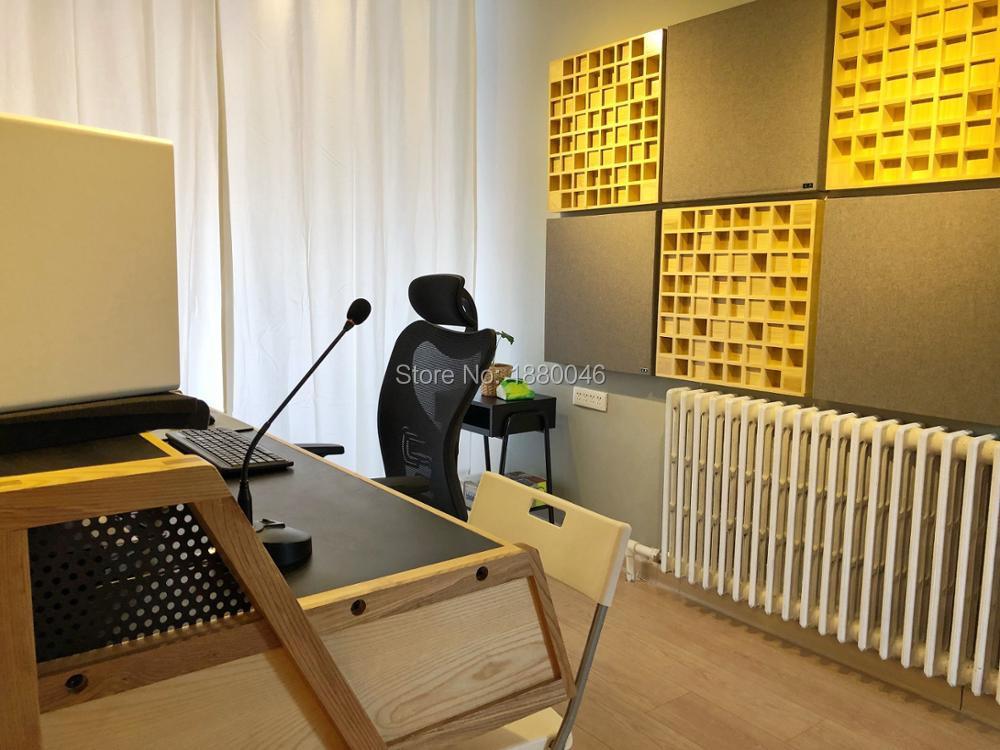 Schiuma Acoustic Tile 6Pcs Rumore fonoassorbenti Schiuma Decorazione Domestica insonorizzazione Studio Pannello Schiuma Isolamento Acustico Schiuma Wall Decor