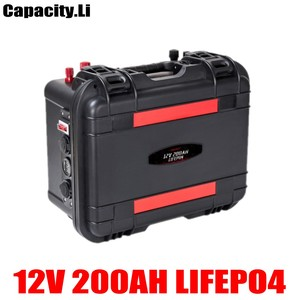 12V 100AH lifepo4 200a lithium iron phosphate rechargeable battery with cigarette lighter for motorhome solar panel engine