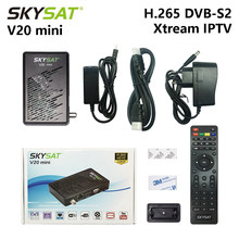 Récepteur Satellite SKYSAT V20 Mini DVB S2 TV Box Cline CCCams Newcamd Powervu Youtube IPTV récepteur TV Satellite récepteur HD(China)