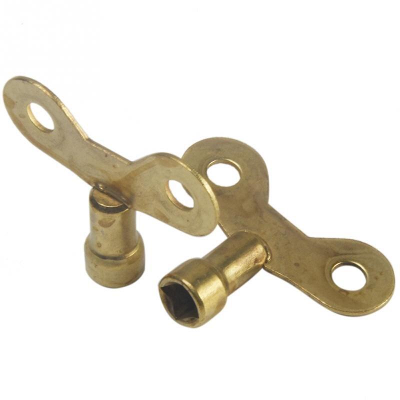 2pcs Square Socket Faucet Keys For Water Tap Lock Radiator Valve, Plumbing Bleed Hole Special Lock Brass Radiator 66 Wholesale