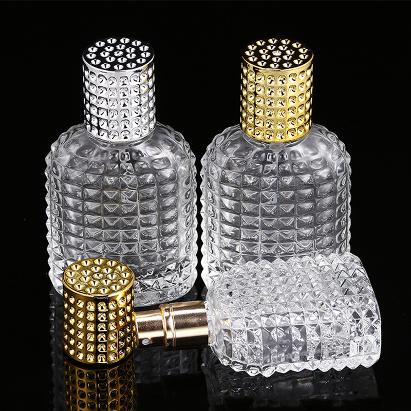 1 Pcs 30ml 50ml New Style Pineapple Portable Glass Perfume Bottle With Spray Empty With Atomizer Refillable Bottles Spray Bottle