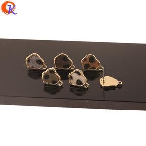 Image 2 - Cordial Design 100Pcs 13*17MM Jewelry Accessories/Hand Made/Irregular Shape/Leopard Print Effect/DIY Making/Earrings Stud