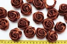 100 шт сатиновые розетки 4 см
