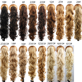 Luxury for Braiding 30inch 210g  Long Wavy High Temperature Fiber Synthetic Hair Pieces Claw Clip Ponytail Extensions for Women 6
