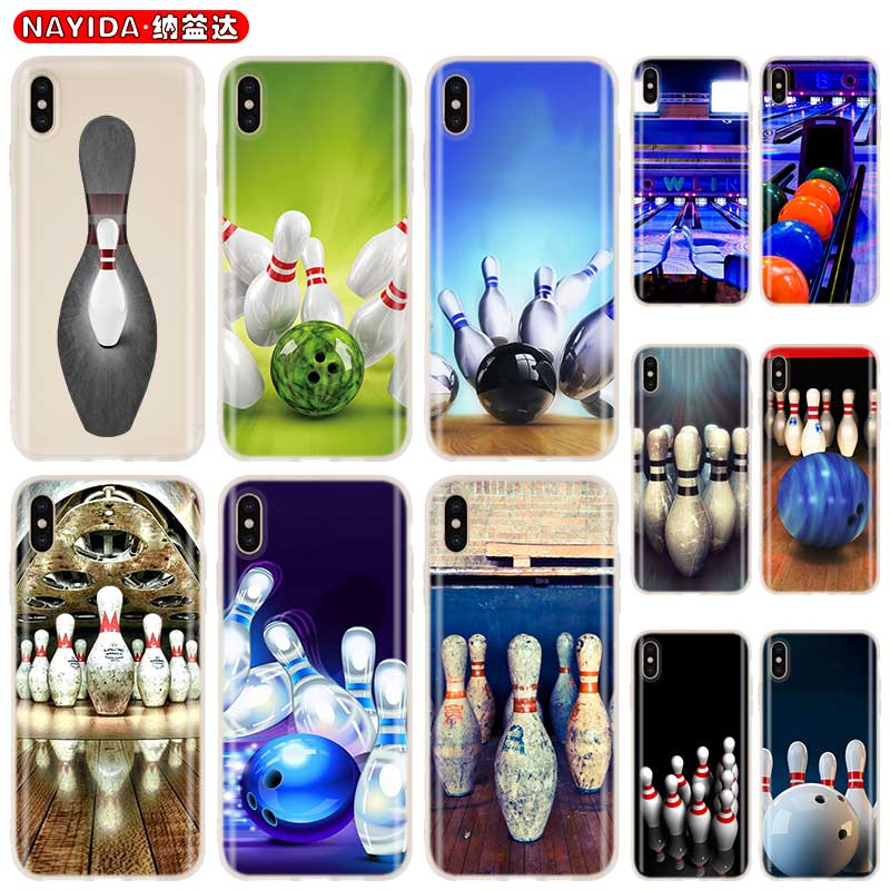 <font><b>Baseus</b></font> Clear Cover Case for <font><b>iPhone</b></font> 11 Pro X XR XS Max 8 7 <font><b>6s</b></font> 6 Plus 5 5s SE 4s Funda Coque Soft silicone Etui bowling Pattern image
