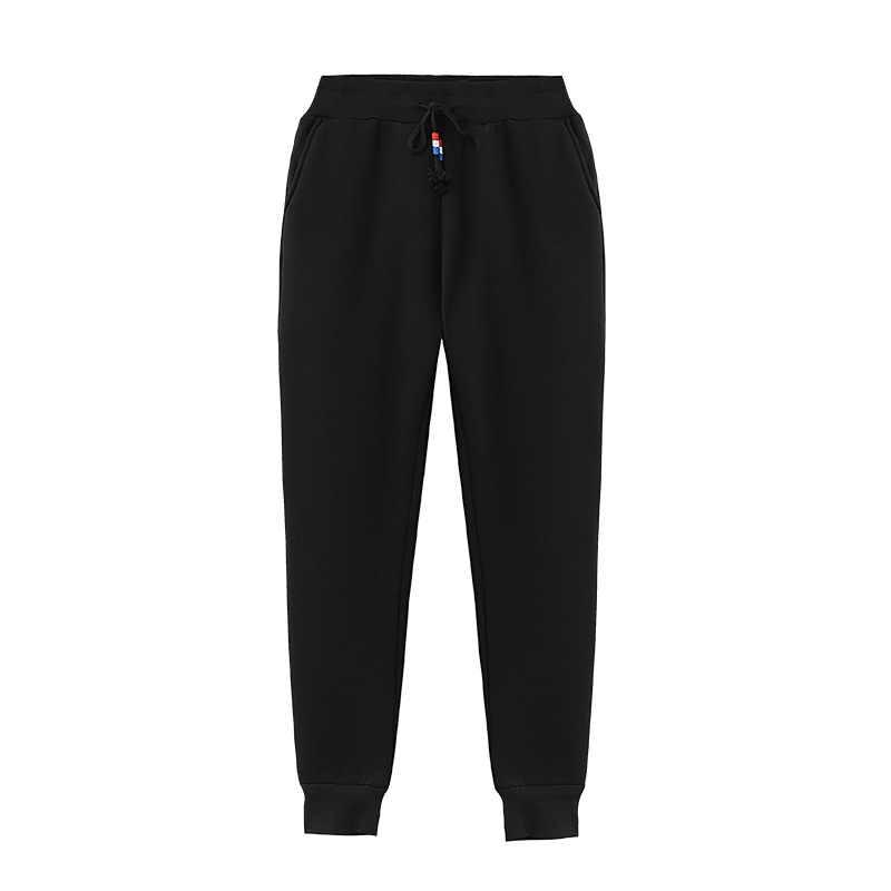Pantalon femmes 2019 velours laine polaire ajouter flocage pantalons de survêtement hiver chaud épaissir les agneaux loisirs amples vestidos WBX9916