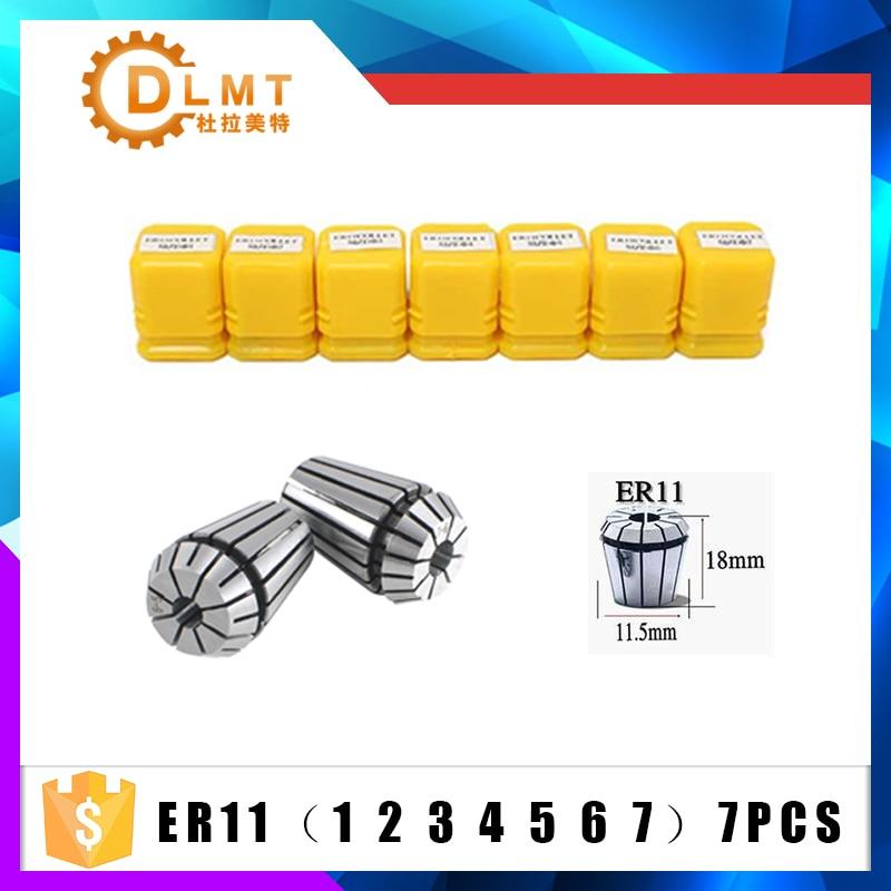 Image 2 - 7pcs High Carbon Steel ER11 Spring Collet 1/2/3/4/5/6/7mm with ER11A Extension Rod Motor Shaft HolderInner 4MM 5MM 6MM 6.35 8MM-in Tool Holder from Tools