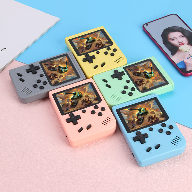 NEW 500 Game Pocket Game Console 3.0 inch Mini Handheld Game Player 8 Bit Retro Consoles LCD Video Gaming Console For Kids Gifts