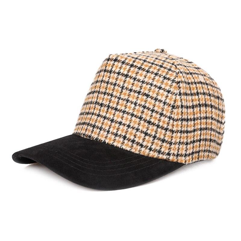 Sedancasesa модная бейсболка для женщин Snapback Кепка s солнцезащитные козырьки шляпы весна-осень для девочек грязная сетчатая Кепка клетчатый узор - Цвет: Yellow