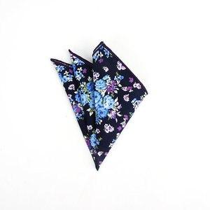 Image 4 - Brand New Style Mens Colorful Hankerchief Scarves Vintage Flower Hankies Mens Pocket Square Handkerchiefs Rose Flower Paisley
