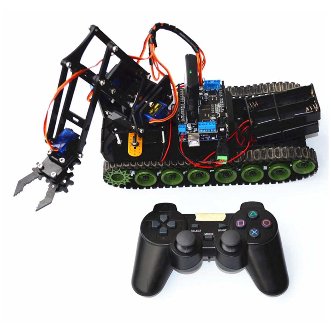DIY Programmable Tank Mechanical Arm Robot Kit For Arduino Brain-Training Toy For Children Kids Educational Toys Birthday Gift