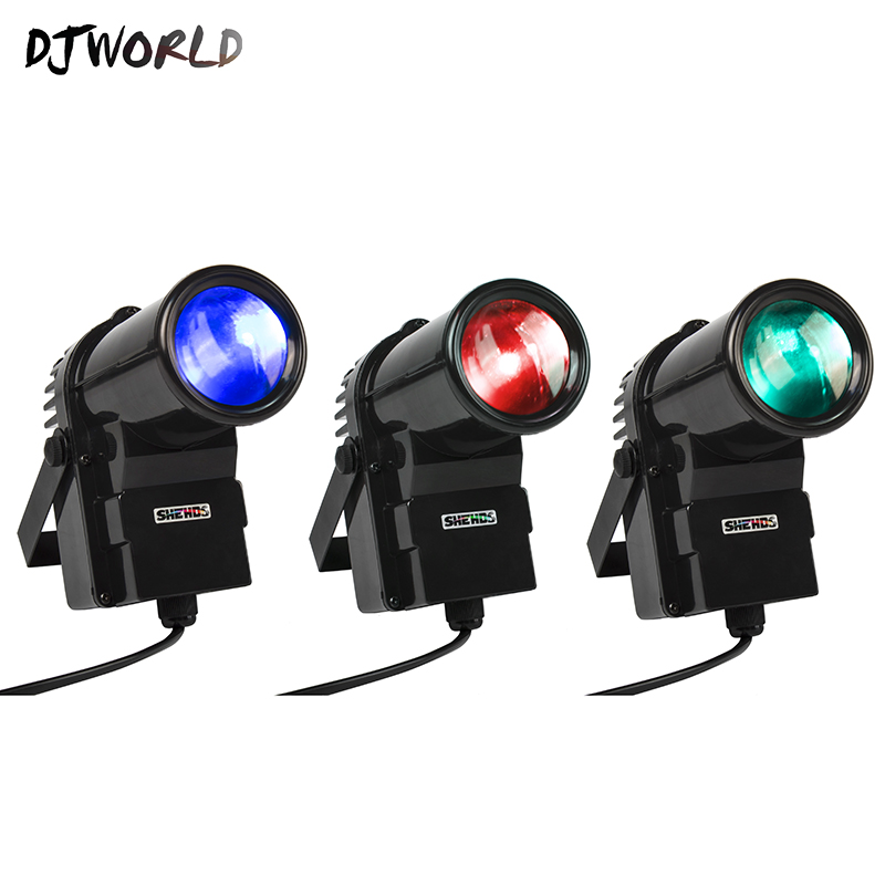 DJworld Wireless Remote Control Mini LED Spotlight10W Lighting Mirror Ball For Disco Light DJ Party Dance Floor Bar