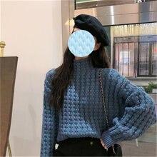 Женский свитер из мохера в стиле ретро осенне зимний модный