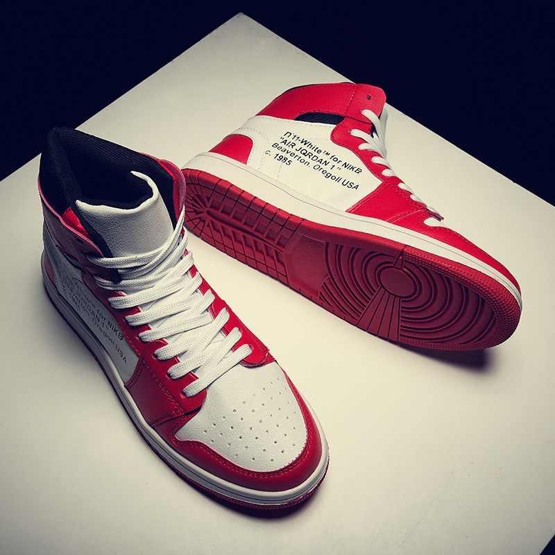 Sonbahar yüksek ayakkabı hava kuvvetleri bir AJ1 ayakkabı Yingmuhuadao spor basketbol ayakkabıları erkekler rahat moda ayakkabılar erkek ayakkabi