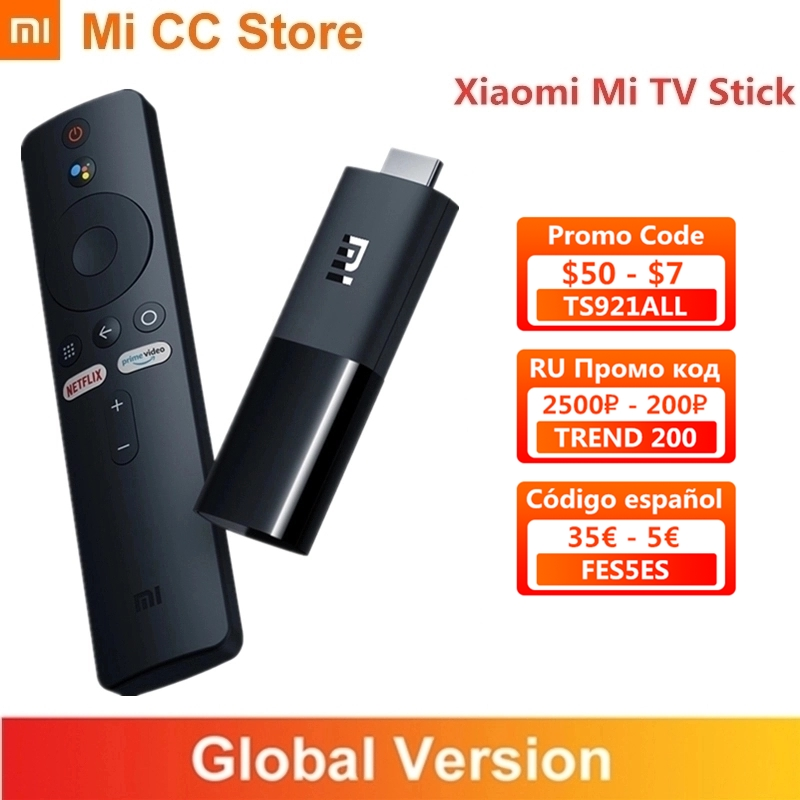 In Stock Global Version Xiaomi TV Stick 2K HDR Android TV 9.0 Wifi Google Assistant TV Dongle 1GB 8GB Bluetooth 4.2 Mi TV Stick(China)