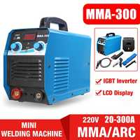 FORGELO 220V 20 300A 7000W Mini DC IGBT Inveter MMA/ARC Welding Tools Handheld Display Pure Copper Welding Machine