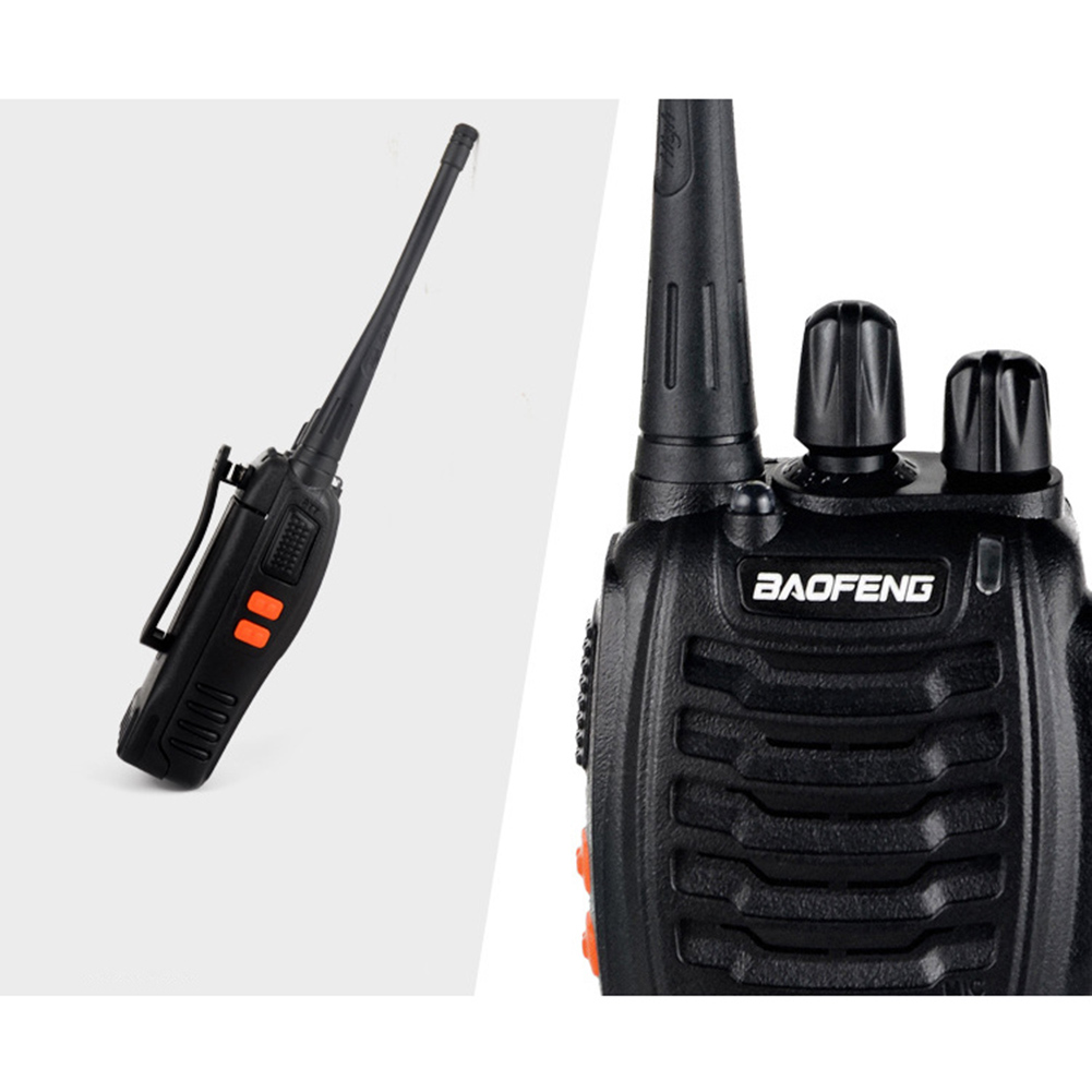 BF-888S Walkie Talkie USB Charge Adapter UHF 400-470MHZ 2-Way Radio 16CH Long Range With Earphone 3.7V 1500mah Battery