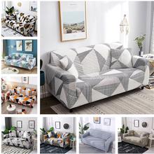 Geometryczna elastyczna narzuta na sofę do salonu nowoczesna segmentowa sofa narożna narzuta narzuta na sofę ochraniacz na krzesło 1 2 3 4 osobowa tanie tanio Housmife 145-185cm Sofa Cover Drukowane Modern Floral Sofa przekroju 100 Polyester As Photos Show 1 pc Sofa Cover Home Living Room Resistant Furniture Protector Sofa Indoor Outdoor