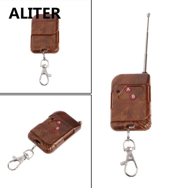 ALITER 0 50m 2 CH RF kablosuz uzaktan kumanda çift düğme verici 315 MHz/433 MHz