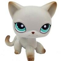 Лпс стоячки кошки Игрушки для кошек lps, редкие подставки, маленькие короткие волосы, котенок, розовый#2291, серый#5, черный#994,, коллекция фигурок для питомцев - Цвет: 391