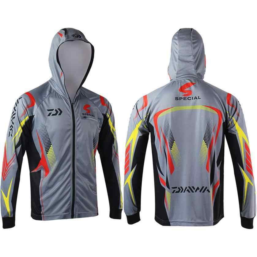 UV Protection Sunscreen Clothing Fishing Mountaineering Long Sleeve Quick Dry Outdoor T-Shirt Heencom Mens UPF 50